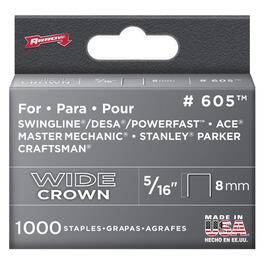 "1000 Pack 5/16"" Wide-Crown Staples, for #800X Stapler thumb"