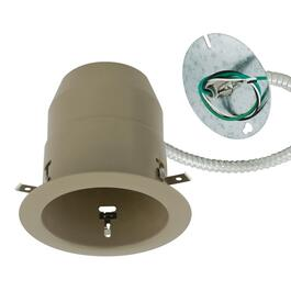 "4.25"" Taupe Remodel Housing Recessed Light Fixture for Non Insulated Ceilings thumb"