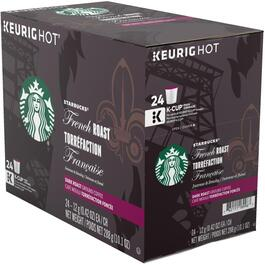 24 Pack Single Serve Starbucks Dark French Roast Coffee K-Cup® Pods thumb