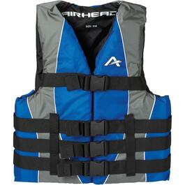 Small/Medium Adult Dual Size Nylon Blue PFD thumb
