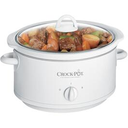 3.5 Quart Oval White Slow Cooker thumb