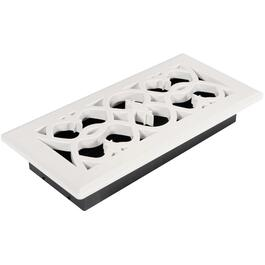 "4"" x 10"" White ABS Floor Diffuser thumb"