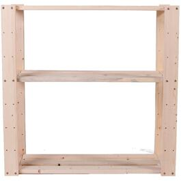 "30"" x 30"" x 12-1/2"" 3 Shelf Pine Wood Shelving thumb"