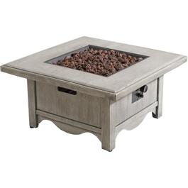 "34.6"" Square Fauxwood Propane Firepit Table thumb"