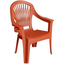 Red Big Easy Resin Hi-Back Stacking Chair thumb