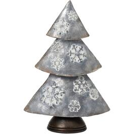 "11"" Galvanized Metal Finish Tabletop Christmas Tree thumb"