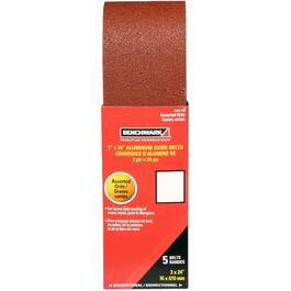 "5 Pack 3"" x 24"" Aluminum Oxide Belts, Assorted Grits thumb"