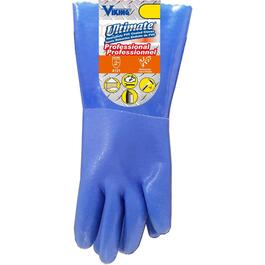 Ultimate Unisex Small/Medium Blue PVC Coated Work Gloves thumb