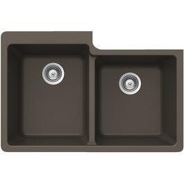 "22"" x 33"" x 9 1/2"" Bronze One and Three Quarter Granite Undermount Sink thumb"