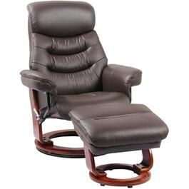 Kona Brown Leather Match Happy Recliner, with Ottoman thumb