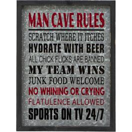 "16"" x 23.5"" Man Cave Wall Plaque thumb"