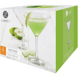 4 Pack 12oz Midtown Martini Stemware Set thumb