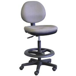 Navy Upholstered Low Back Office Chair thumb