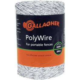 200m White Electric Fence Polywire thumb