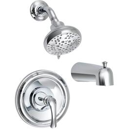 Tiffin Chrome Pressure Balance Tub and Shower Faucet thumb