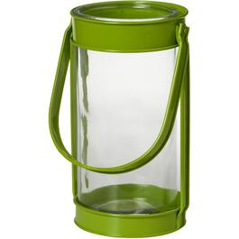 "12.4"" Round Metal and Glass Lantern , Assorted Colours thumb"