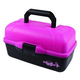 "14"" Frost Pink 2 Tray Tackle Box thumb"