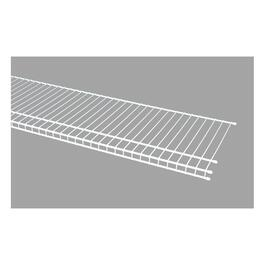 "12"" x 12' White Superslide Wire Shelf thumb"