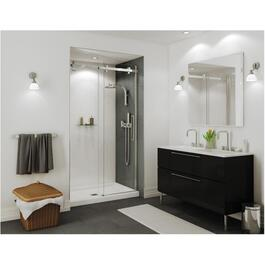 "48"" x 78-3/4"" Halo 8mm Clear Glass Shower Door with Chrome Trim thumb"