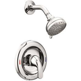 Chrome Pressure Balance Single Lever Shower Faucet thumb