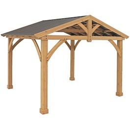13' x 11' Savannah Wood Pavilion, with Aluminum Top thumb