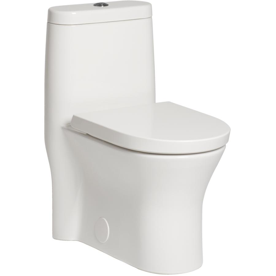 American Standard Tofino 1 Piece Dual Flush White Elongated Toilet