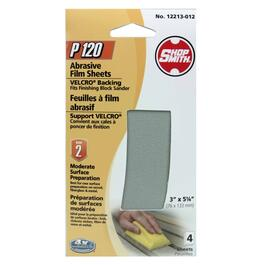 4 Pack 120 Grit ShopSmith Hook and Loop Block Sander Refills thumb