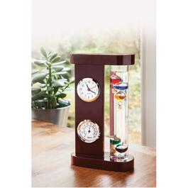 Indoor Galileo Thermometer, with Hygrometer and Clock thumb