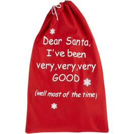 "31"" x 19"" Red Felt Santa Sack thumb"
