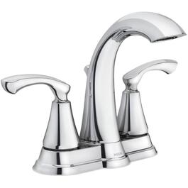 Tiffin 3 Hole Chrome 2 Lever Handle Lavatory Faucet thumb