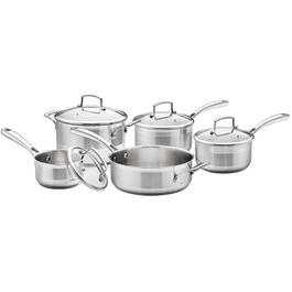9 Piece Stainless Steel Cookware Set, with Glass Lids thumb
