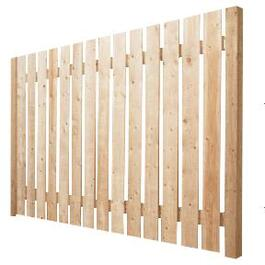 4' Spruce Sanded Four Sides Jasper Fence Package thumb