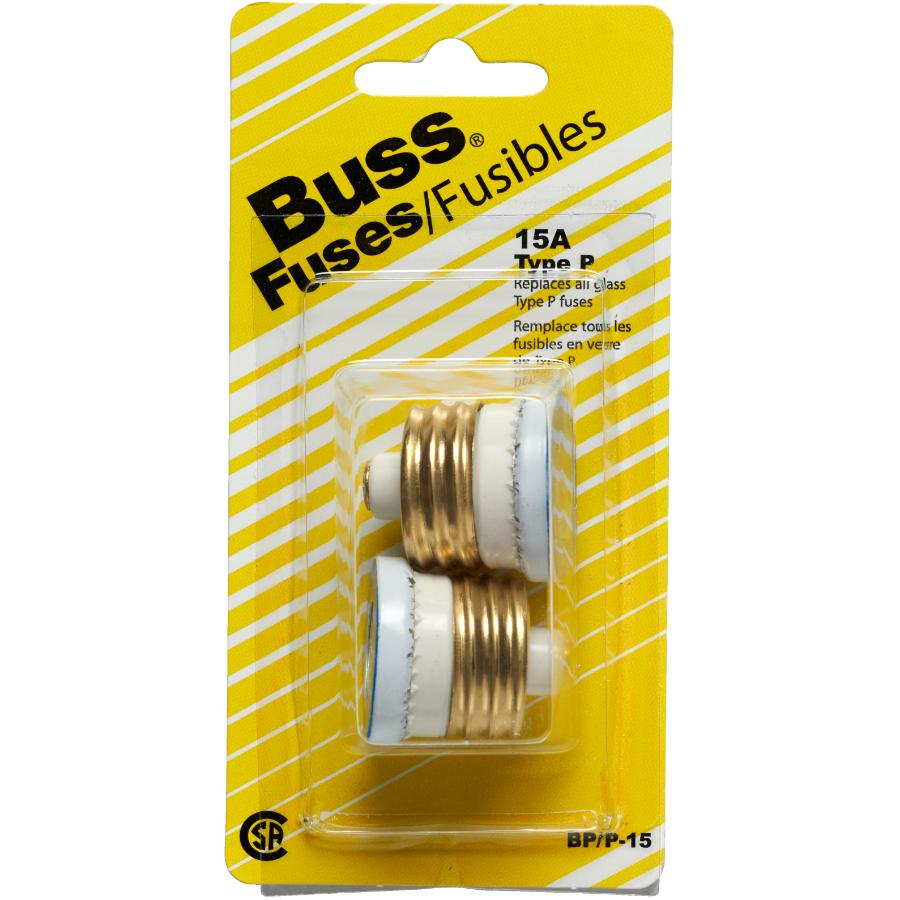 Bussmann 15amp 4 Pack Stat S Fuses Home Hardware Canada Buss Type Fuse Box 2 15 Amp P Plug