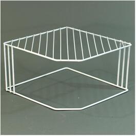 "10"" White Wire Corner Shelf thumb"