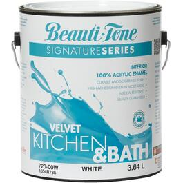 3.64L Kitchen & Bath White Base Velvet Finish Interior Latex Paint thumb