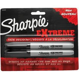 2 Pack Extreme Black Fade Resistant Permanent Markers thumb