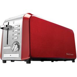 4 Slice Metallic Red Toaster, with Extra Wide Slots thumb