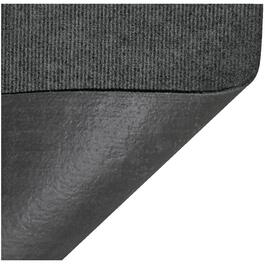 "96"" x 72"" Dark Grey Polyester Patio Rug, with Backing thumb"