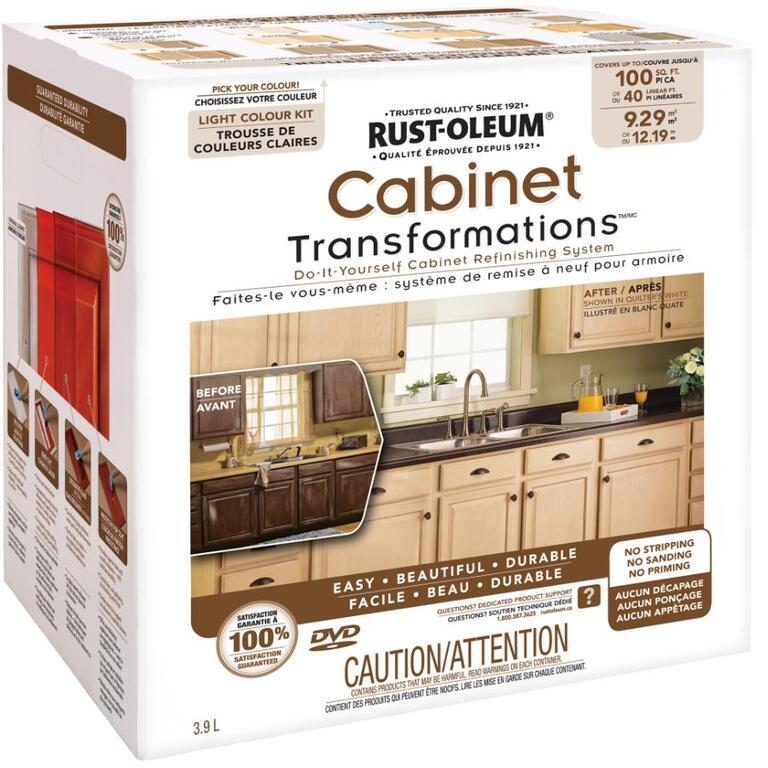 Kitchen Cabinet Refinishing Kits: RUST-OLEUM Cabinet Transformations Light Colour Kit