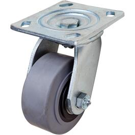 "4"" Thermoplastic Rubber Wheel Swivel Plate Caster thumb"
