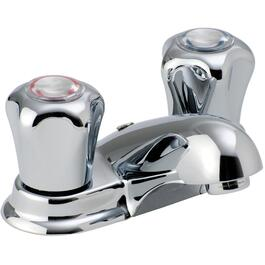 Chrome 2 Handle Lavatory Faucet, with Chain thumb