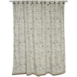 "70"" x 72"" Lafayette Polyester Shower Curtain, with Peva Liner thumb"