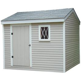 10' x 10' Side Entry Gable Shed Package, with Vinyl Siding thumb