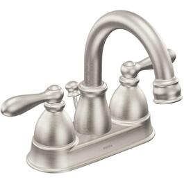 Caldwell High-Arc Brushed Nickel 2 Lever Lavatory Faucet thumb