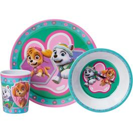 3 Piece Purple Melamine Paw Patrol Dinnerware Set thumb