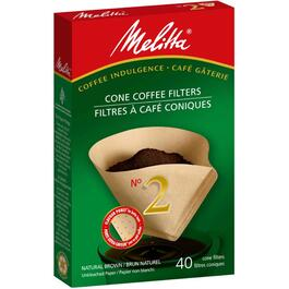 40 Pack Natural Brown #2 Cone Coffee Maker Filters thumb