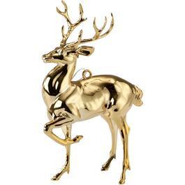 "4.5"" Plastic Deer Ornament, Assorted thumb"