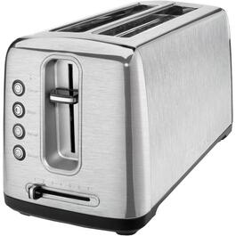 2 Slice Stainless Steel Toaster, with Extra Wide and Extra Long Slots thumb