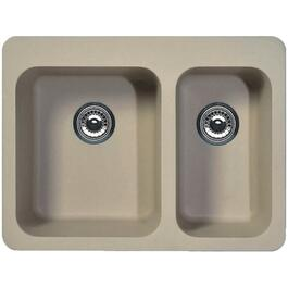 "20"" x 27"" x 9"" 1-1/2 Granitek Biscuit Kitchen Sink thumb"