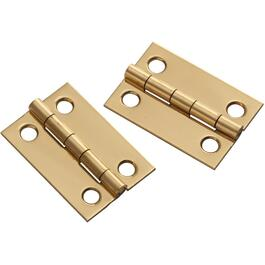 "2 Pack 1-1/2"" x 1"" Brass Medium Hinges thumb"